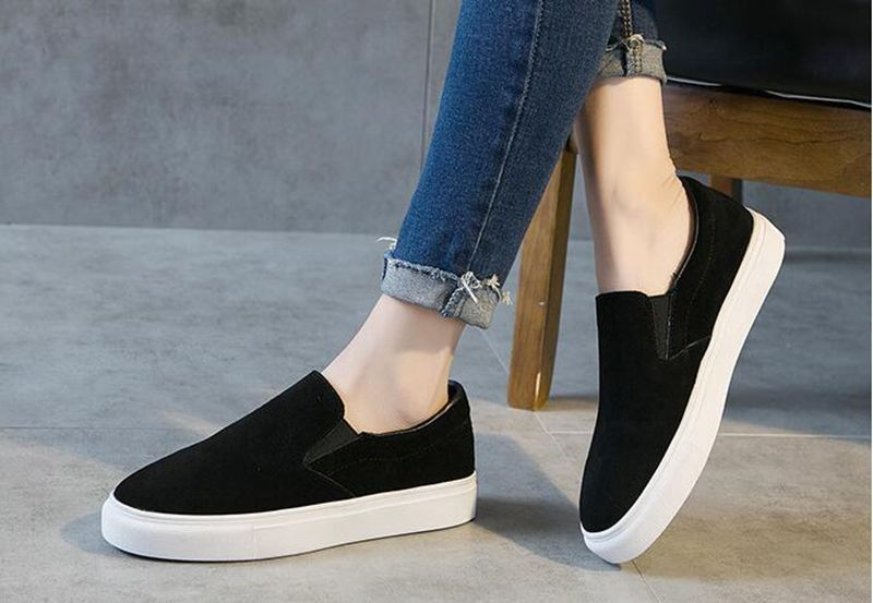 High quality!Women High Heel  Sports Shoes Leather student board shoes,Free shipping free shipping candy color women garden shoes breathable women beach shoes hsa21