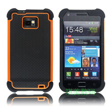 S2 Ballistic Hybrid Plastic Rubber Case Back Cover For Samsung Galaxy S2 I9100 Plus I9105 Dual Layer Hard Cover