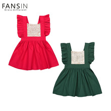 Fansin Brand Kids Baby Princess Dresses Girls Clothes Party Costume Sequins Ruffles Sleeve Toddler Girl Tutu Dress For Wedding