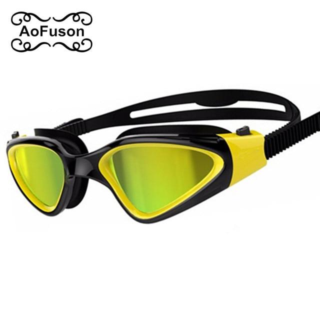 9028d63056 Adult Swimming Goggles Comfortable Silicone Large Frame pool Swim Sports  Glasses Anti-Fog UV Adjustable