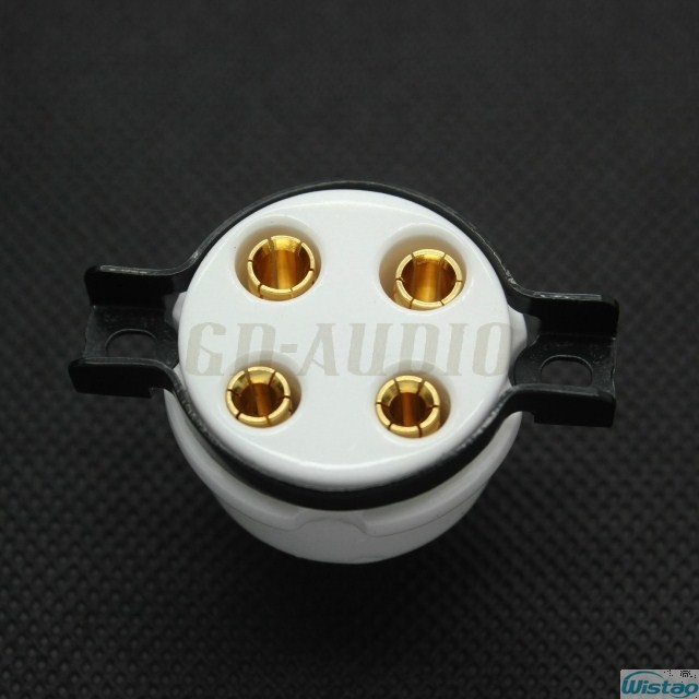 Sensors Electronic Components & Supplies Free Shipping 300b 2a3 For Large Four-leg Flat Gold-plated Tube Socket