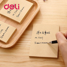купить Deli 1 set Kraft Paper sticky notes Planner Stationary Office School Supplies Diary Stickers Scrapbooking Sticky Note Memo Pad в интернет-магазине