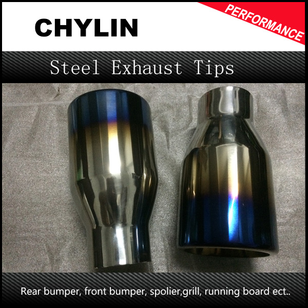 Racing Car Exhaust Tip Neochrome Blue ID:63mm(2.5) OD:101mm(4) L:180mm(7.) Stainless Steel Exhaust Muffler Tip End Pipe 11 11 free shippinng 6 x stainless steel 0 63mm od 22ga glue liquid dispenser needles tips