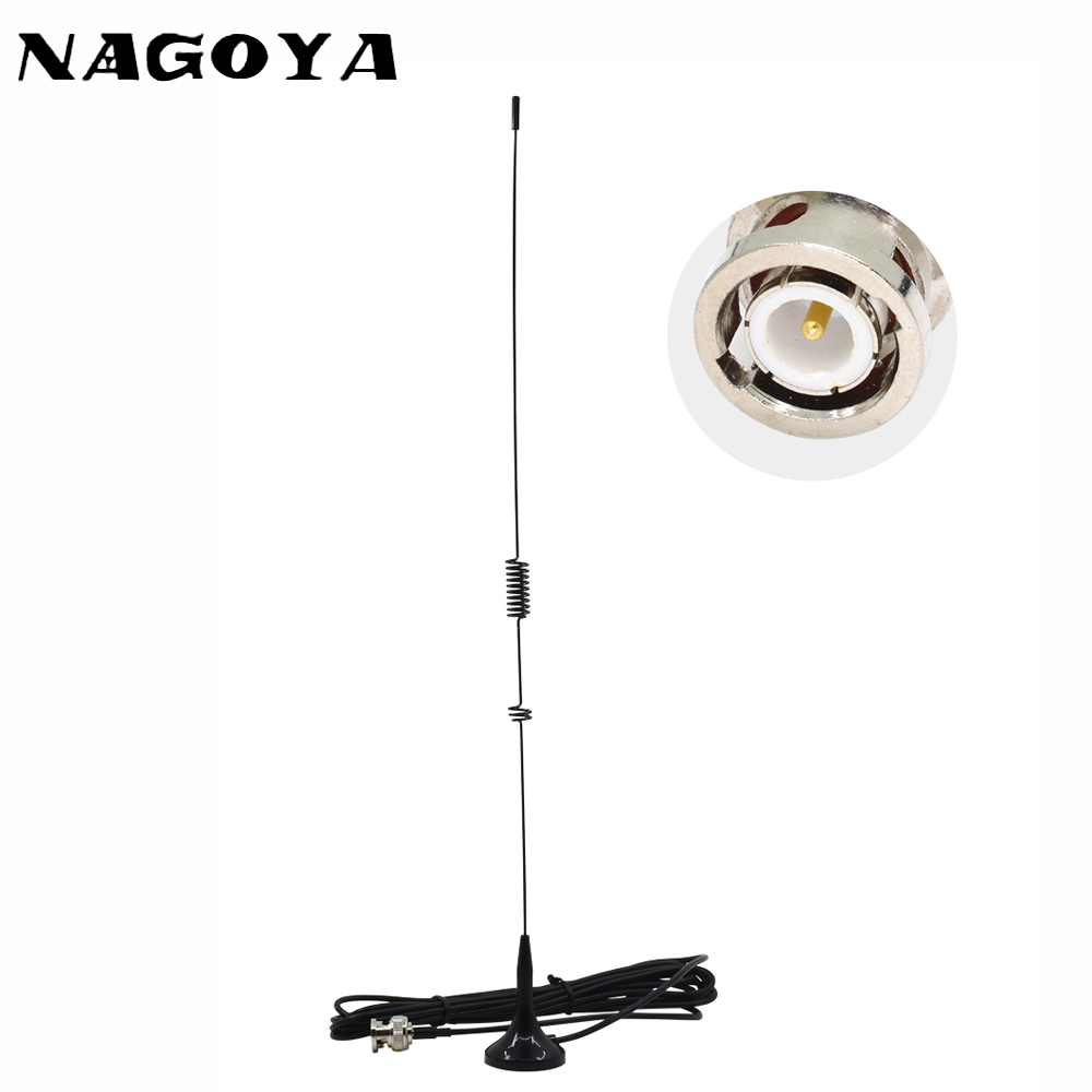 NAGOYA UT-106UV Dual Band VHF UHF Two Way Radio BNC Antenna Car Magnetic 3M RG-174 Cable For Kenwood TK100 TK200 IC-V8 IC-V80