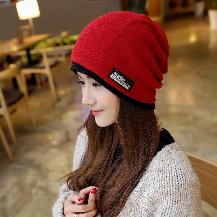 femme solid skullies unisex autumn beanies winter warm chapeau women hat female knitted cap ladies bonnet skullies