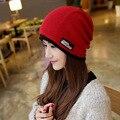 femme solid skullies unisex autumn beanies winter warm chapeau women hat female knitted cap ladies bonnet