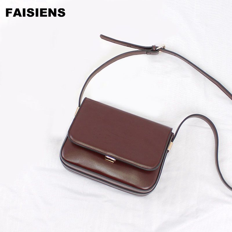 2017 Vintage Small Shoulder Bags Casual PU Cover Messenger Bags Black Coffee and Brown colors