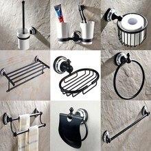 Black Oil Rubbed Brass Ceramic Base Bath Hardware Wall Mounted Bathroom Accessories Set,Toilet Paper Holder,Towel Bar aset013 цена