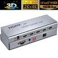 10 ШТ. 1x4 HDMIv1.4 Splitter HDMI Switcher 1 В 4 Из 3D & 4 К Video Converter с ИК расширение Поддержки HDCP1.4, EDID 3840x2160/30 Гц