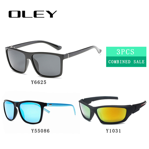 3PCS Combined Sale OLEY High quality polarized men sunglasses  popular combo for 2019 Islamabad