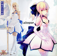 Fate/NULL cosplay Saber Lily Anime kostüm 10th anniversary bule lilie volles kleid