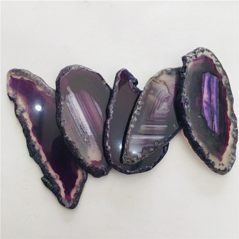 5pc purple Large   Agate Slice Geode Polished Crystal Quartz5pc purple Large   Agate Slice Geode Polished Crystal Quartz