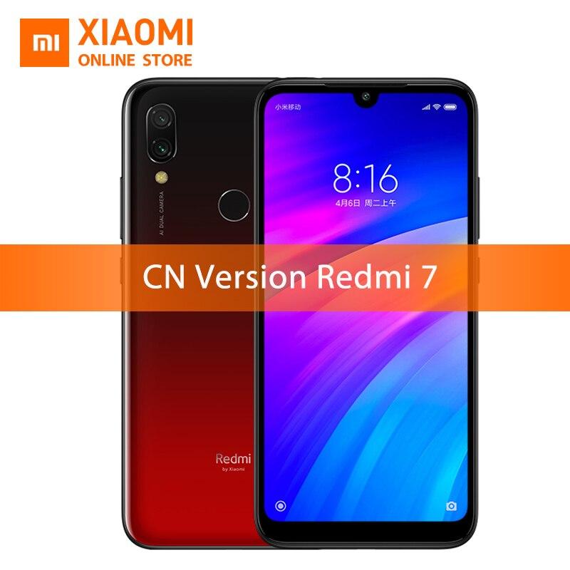 Original Xiaomi Redmi 7 4GB 64GB Snapdragon 632 Smartphone Octa Core 4000mAh 6.26'' Phone Full screen 12+2MP Dual Camera