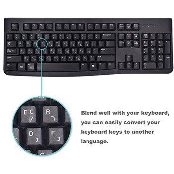100pcs Keyboard Sticker Russian/English/French Keypad Sticker PVC Matte/Glossy Alphabet Layout Notebook Laptop PC Desktop Decal 1