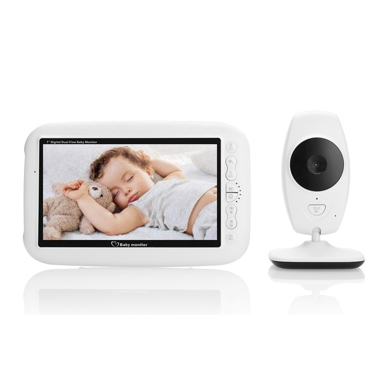 babykam camara vigilancia bebe video nanny 7.0 inch IR night light vision Intercom Lullaby Temperature Sensor camara vigila bebe