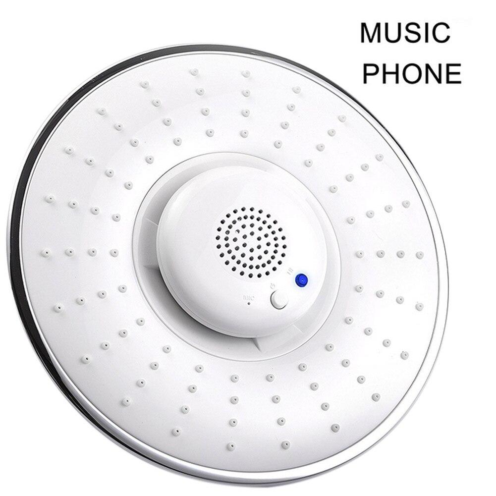 Bluetooth Wireless Musical Jet Rain Showerhead Waterproof Speaker Hand-free Phone Calls Hogard