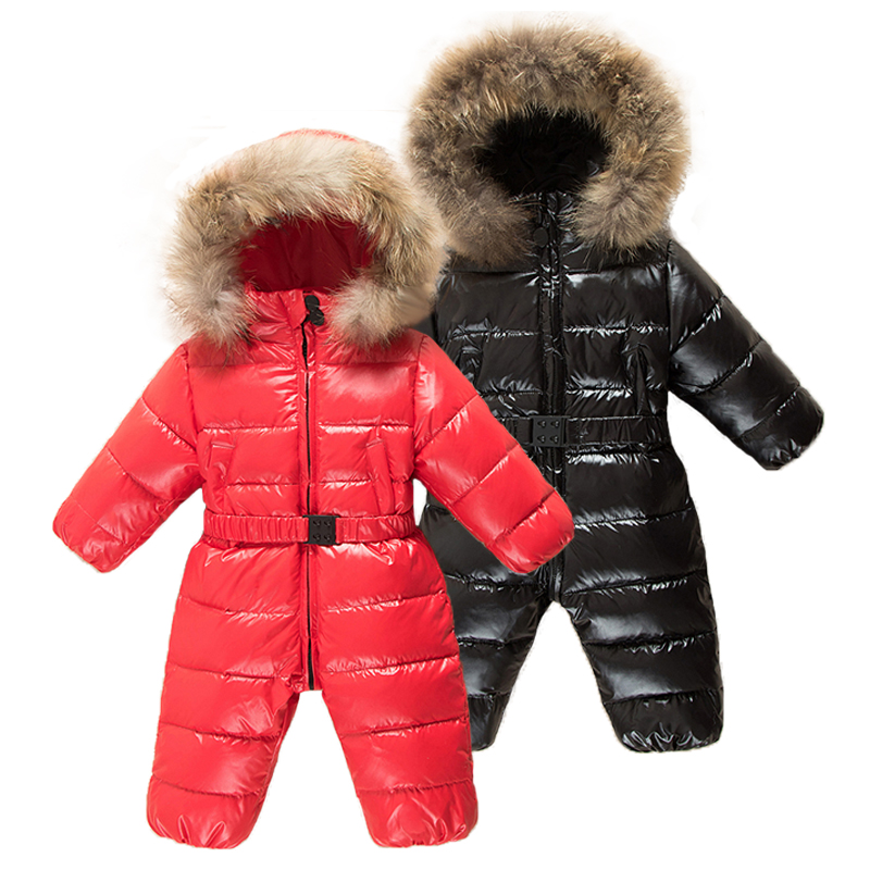 2019 Infant Girl Winter Clothing Newborn Baby Outwear Climbing   Rompers   Boys Winter Coat Outerwear Fashion Hooded Parkas Snowsuit