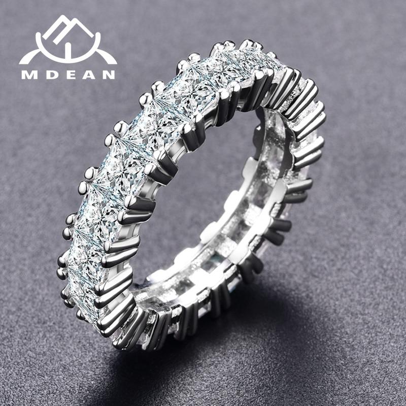 Vjenčano prstenje od bijelog zlata MDEAN za žene Zaručnice Bague Ženski prsten Bižuks Veličina 5 6 7 8 9 MSR378