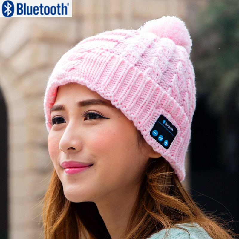 Christmas gift ! New Arrival Bluetooth beanie Hat Cap Knitted Winter Magic Hands-free Music mp3 Hat for woman Men Smartphone P10 unisex winter plicate baggy beanie knit crochet ski hat cap red