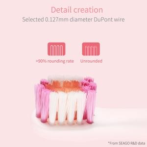 Image 3 - SEAGO ماركة الاطفال فرشاة الأسنان الكهربائية USB قابلة للشحن شحن الموقت فرش 3 طرق فرشاة أسنان سونيك مع 3 رؤساء العناية بالأسنان