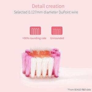 Image 3 - Seago Thương Hiệu Trẻ Em Bàn Chải Đánh Răng Điện USB Sạc Sạc Hẹn Giờ Bàn Chải 3 Chế Độ Âm Bàn Chải Đánh Răng Với 3 Đầu Chăm Sóc Răng Miệng