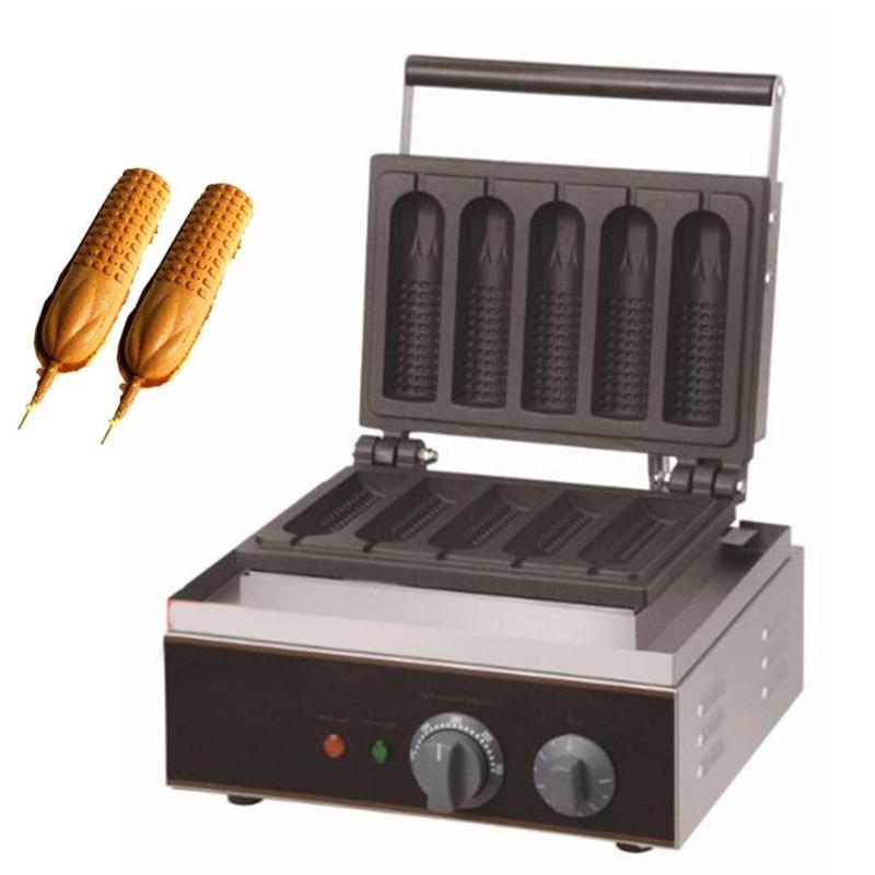 BEIJAMEI New arrival electric corn crisp maker / waffle corn dog making machine/commercial waffle stick maker muffin hot dog and corn waffle making machine for sell commercial hot dog waffle maker