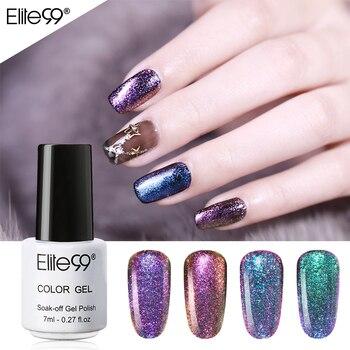 Elite99 7 ml 3D Chameleon Gel Nagellack Farbwechsel Nail art Maniküre Gel Polnischen Schwarz Basis Benötigt Weg Tränken UV Gel Für Nagel