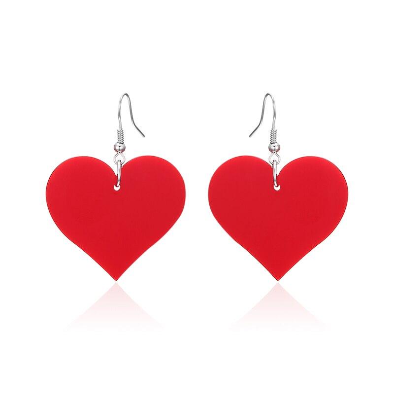 MISANANRYNE Warm Love Red Hearts Long Black