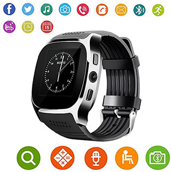SunKinFon K4 Sports Smart Watch Phone Support 2G SIM Card TF Card Bluetooth Smartwatch Pedometer Remote Control & 0.3MP Camera
