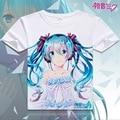 Anime Hatsune Miku Unisex Tops Tee Camiseta Anime Japonés de Animación T-shirt hombres Cosplay Costumen Camiseta