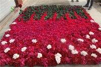 SPR 2,4*2,4 м EMS Бесплатная доставка розы стены горячая Распродажа День Святого Валентина свадьба фоне стены композиция Цветы украшения