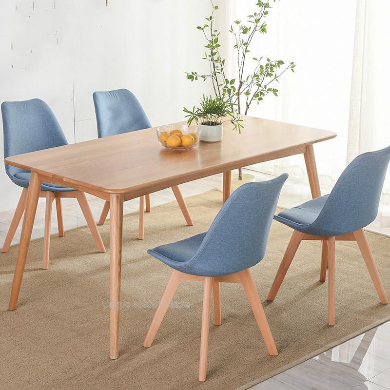 Простой современный домашний стул для столовой задний офисный стул креативный твердый деревянный Северный стул