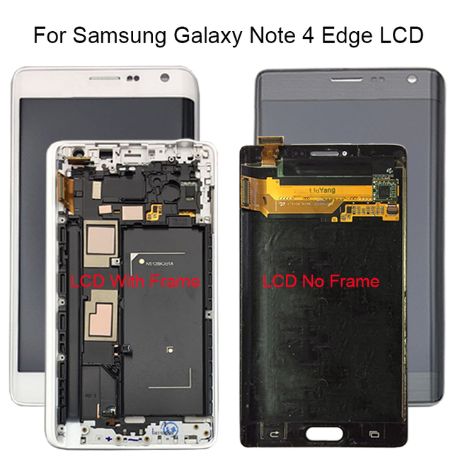 5.6 Tested LCD For Samsung GALAXY Note 4 Edge N915 N9150 N915F LCD Display Touch Screen Digitizer With Frame Assembly
