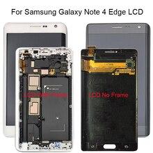 ЖК дисплей с дигитайзером для Samsung GALAXY Note 4 Edge N915 N9150 N915F, 5,6 дюйма, сенсорный экран с рамкой в сборе