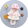 2016 новых осенью и зимой ребенка шерстяное пальто хлопчатобумажная ткань уши кролика бренд ветровка куртка детей 1-4 лет бесплатно доставка