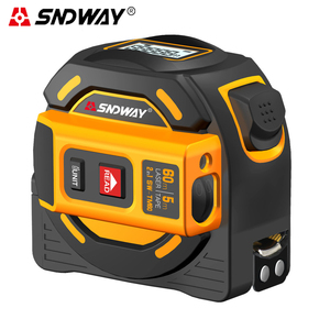 SNDWAY Laser distance meter 40M 60M Laser range finder laser tape measure digital retractable 5m laser rangefinder Ruler Survey(China)