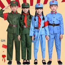 Детская восьмая маршрут армейская Одежда для взрослых Красная Армия сценические выступления для девочек Новая четвёртая армейская форма Одежда для хора Косплей