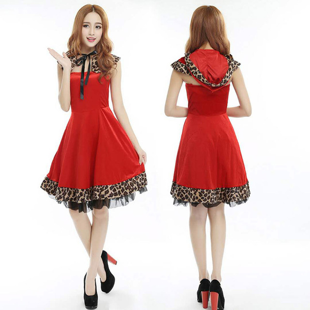 2018 High Quality Red Christmas Wear Women's Adult Costumes Fashion ...