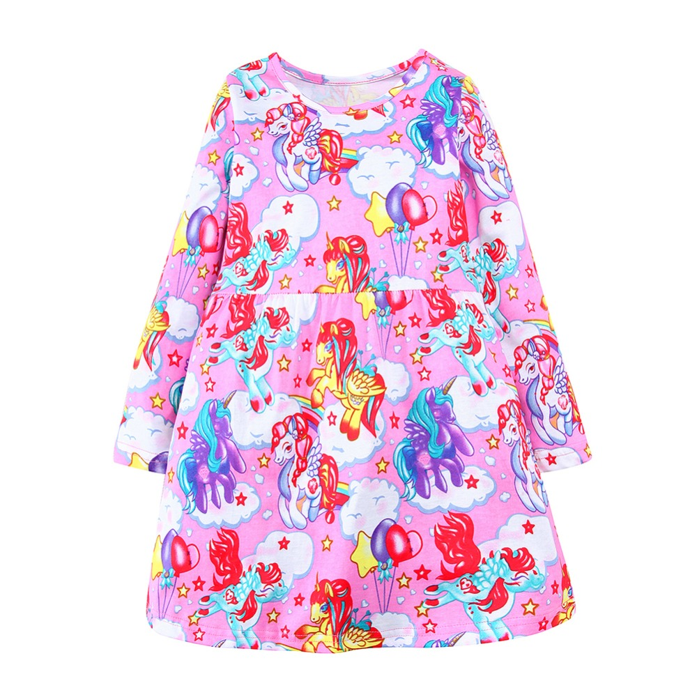 hurave new 2017 fashion autumn children clothes dress for