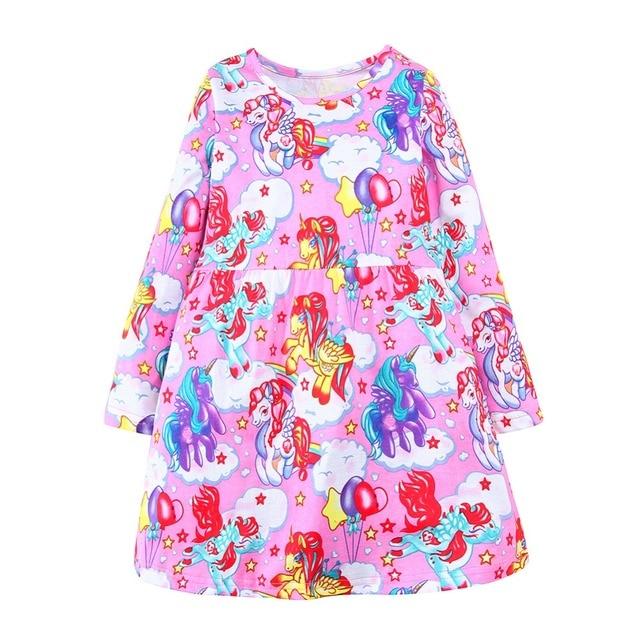 Long Sleeve Girls Dress Unicorn Costumes for Kids Clothes 2018 Brand Fashion Baby Princess Dress Children  sc 1 st  AliExpress.com & Long Sleeve Girls Dress Unicorn Costumes for Kids Clothes 2018 Brand ...