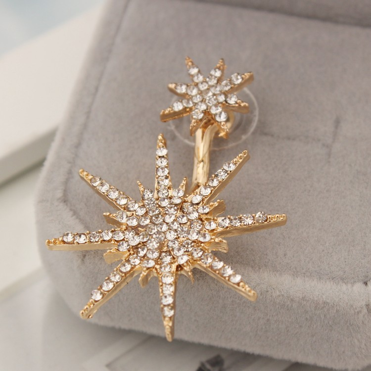 Considerate M Mism Golden Color Snow Drop Earrings Women Pendientes Rhinestone Shining Mujer Moda 2018 Boucle D'oreille Fashion Oorbellen Long Performance Life