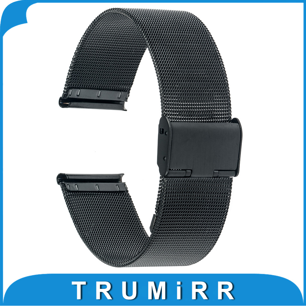Milanese Watch Band for Pebble Time Round 20mm Bradley ...