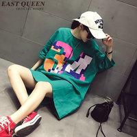 Shirt female long harajuku shirt long sleeve women shirt summer style long cotton t shirt large size L XXXL AA2039 Q