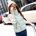 Kawaii Autumn Winter Women Vest Waistcoat 2016 Korean Fashion Ladies Sleeveless Jacket Vest Female Down Cotton Padded Warm Vest