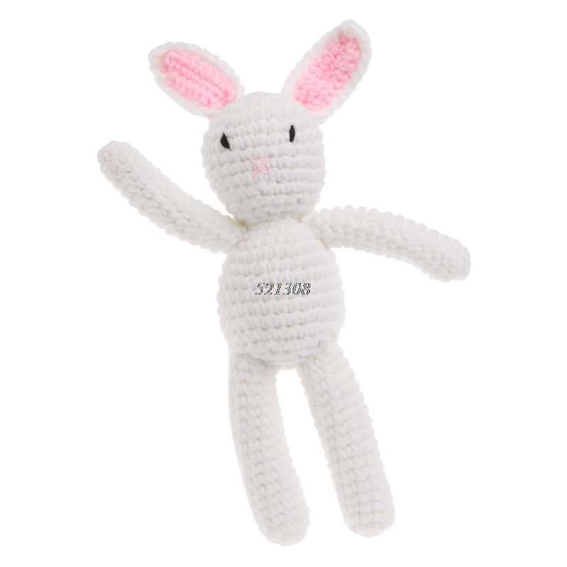 2017 Newborn Baby Girls Boys Rabbit Photography Prop Photo Crochet Knit Toy Cute Gift MAR7_30