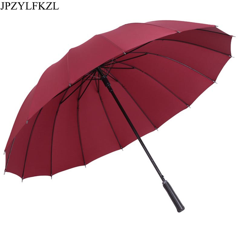 16K Semi-automatic Increase Umbrella 1-2 People Female Male Car Luxury Large Windproof Straight Corporation