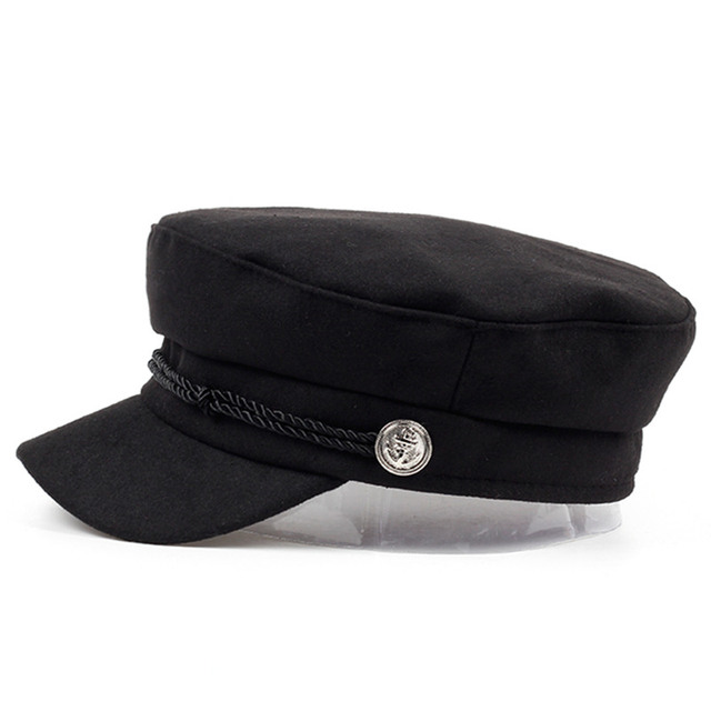 VORON new navy Cap Chapéu Feminino Chapéu de lã de Inverno Chapéus Para  Mulheres Dos Homens 9c631d8a23d