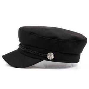b844902445b VORON new navy Cap Hat Female Winter Hats For Women Men Ladies Army Militar  Hat wool Visor Black Cap Sailor Hat Bone Male