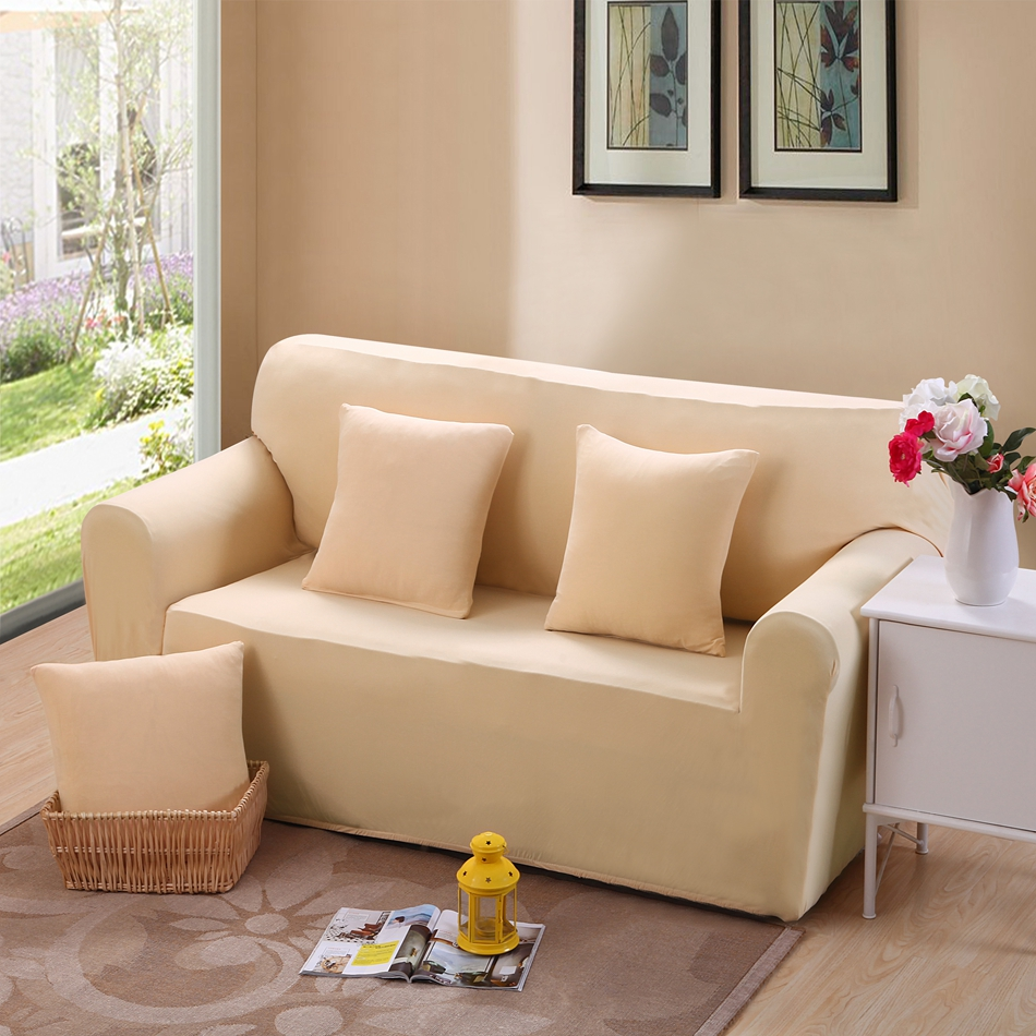 Light Color Full Sofa Cover Slipcover L Shape Sofa Cover Couch Case For  Single Double Three