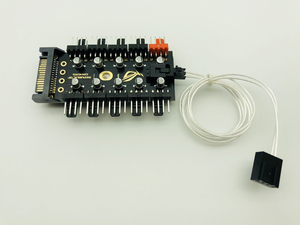 Image 5 - Divisor de concentrador de 1 a 10 ventilador de refrigeración de PC, Cable LED PWM SATA 12V, velocidad de la fuente de alimentación, adaptador controlador para minería de Bitcoin